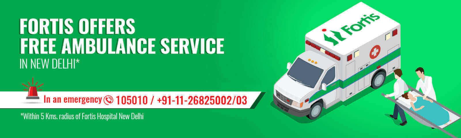 Fortis Escorts Ambulance free Service