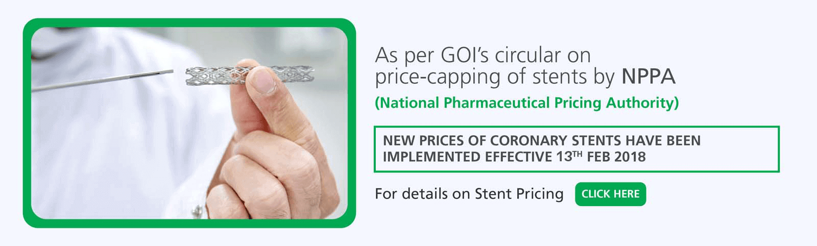FEHI Stent Pricing
