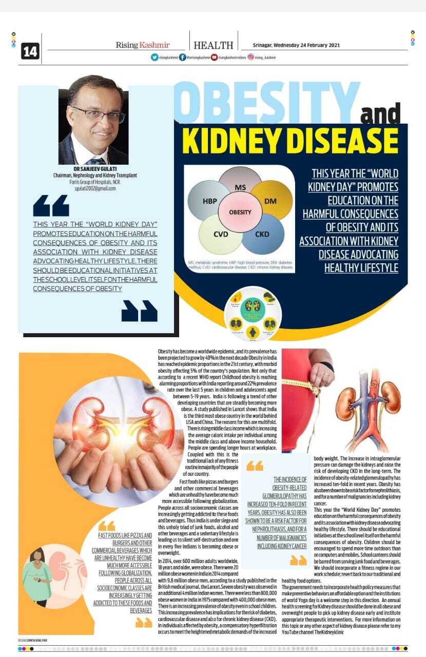 Obesity and Kidney Disease