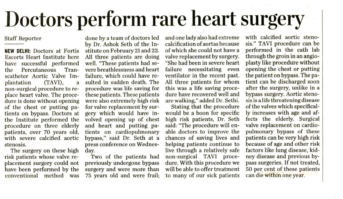 Doctors perform rare heart surgery