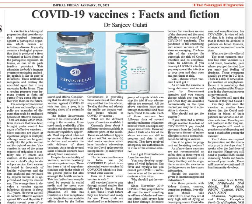 COVID-19 Vaccine - Facts and Fiction